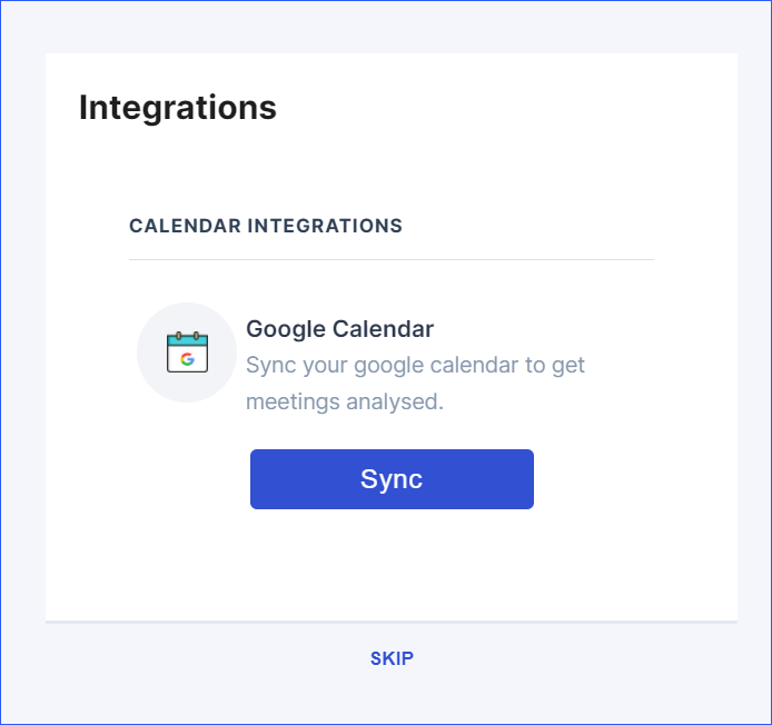 Wingman syncs with your calendar