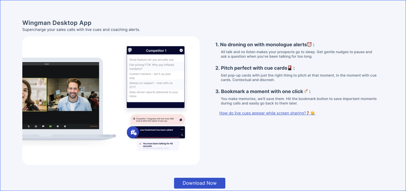 Wingman app download prompt during sign up