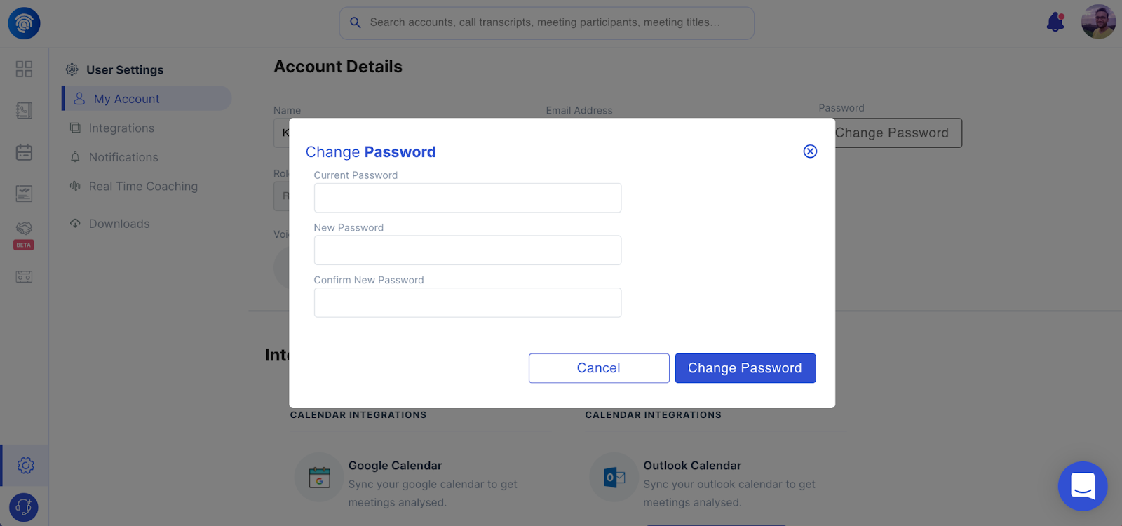 Changing your Wingman Password