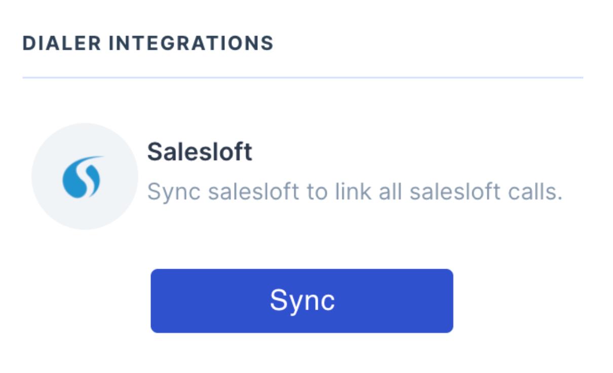 Sync Salesloft with Wingman