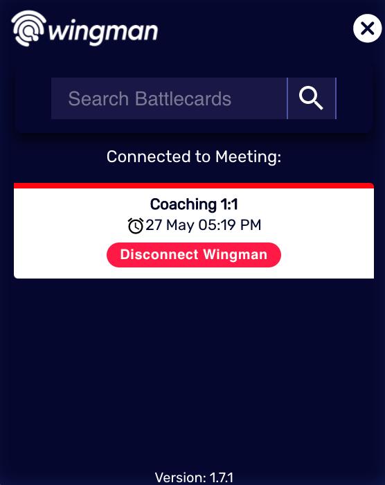 Remove Wingman from an ongoing call (desktop app)
