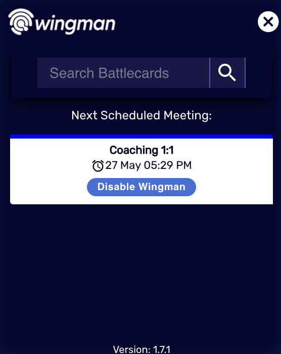 Remove Wingman from a scheduled meeting (desktop app)